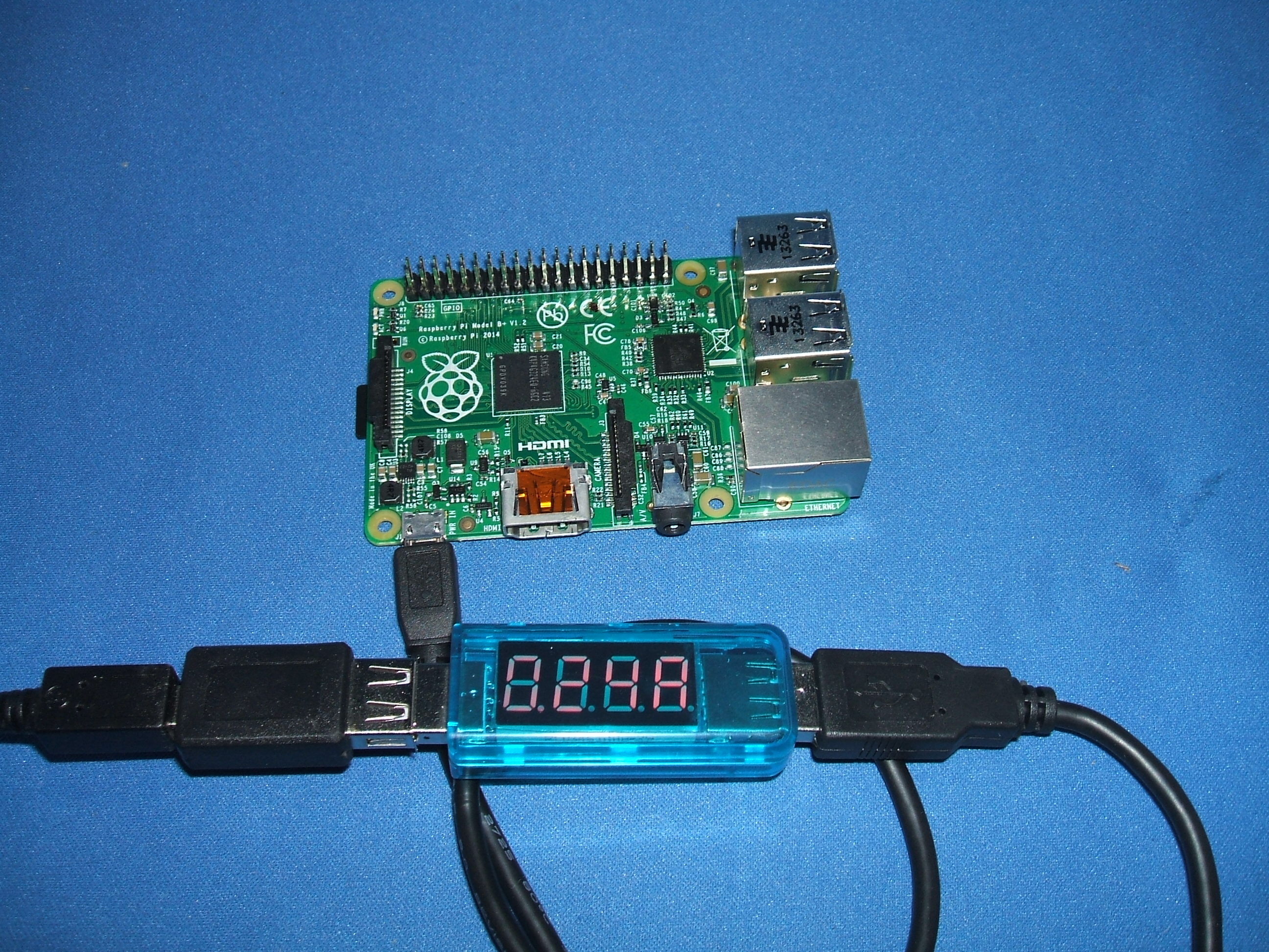 Photo of DVM connected to a Pi B+